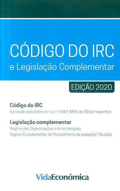 Código do IRC e legislação complementar, 2020