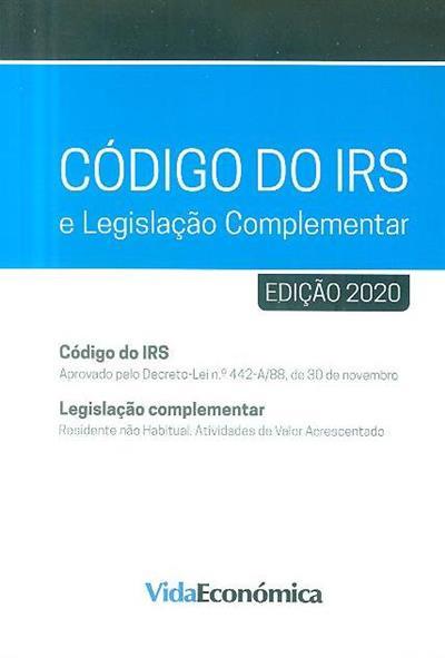 Código do IRS e legislação complementar, 2020