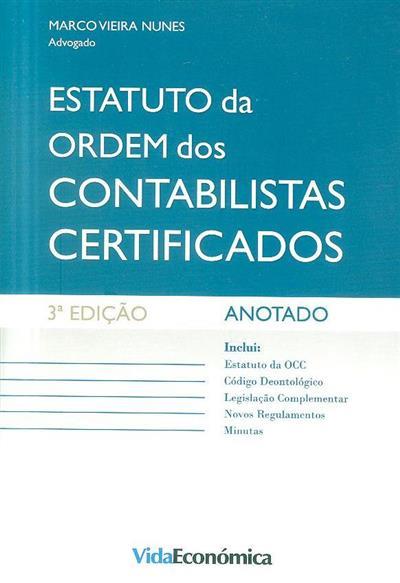 Estatuto da Ordem dos Contabilistas Certificados (Marco Vieira Nunes)