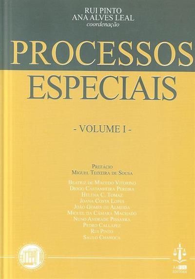 Processos especiais (coord. Rui Pinto, Ana Alves Leal)