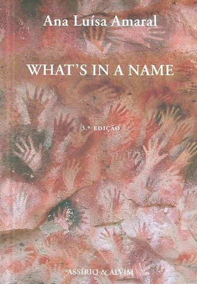 What's in a name (Ana Luísa Amaral)
