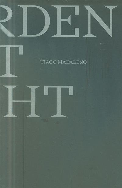 A garden at night