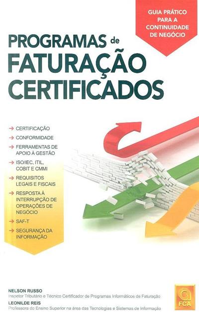 Programas de faturação certificados (Nelson Russo, Leonilde Reis)