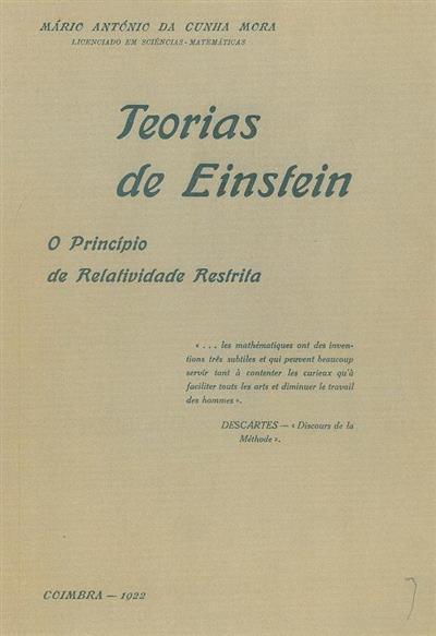 Teorias de Einstein (Mário António da Cunha Mora)