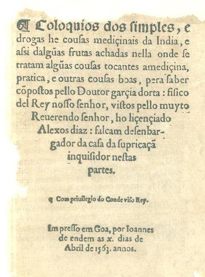 Coloquios dos simples (Garcia d'Orta)