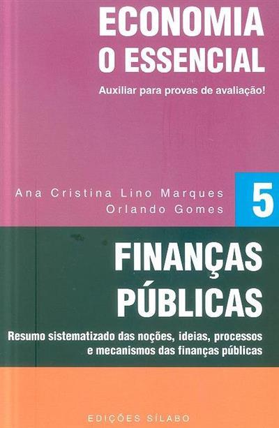 Finanças públicas (Ana Cristina Lino Marques, Orlando Gomes)