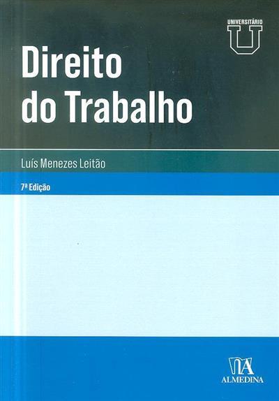 Direito do trabalho (Luís Manuel Teles de Menezes Leitão)