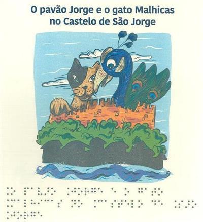 O pavão Jorge e o gato Malhicas no Castelo de S. Jorge (Célia Sousa)
