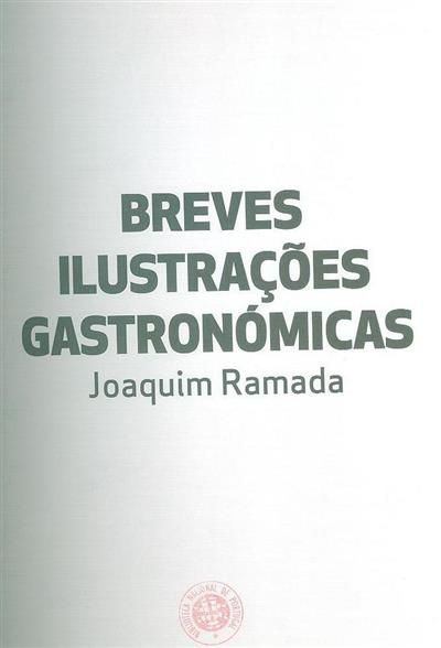 Breves ilustrações gastronómicas (Joaquim Ramada)