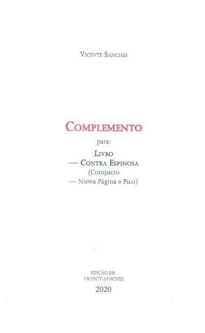 Complemento para (Vicente Sanches)
