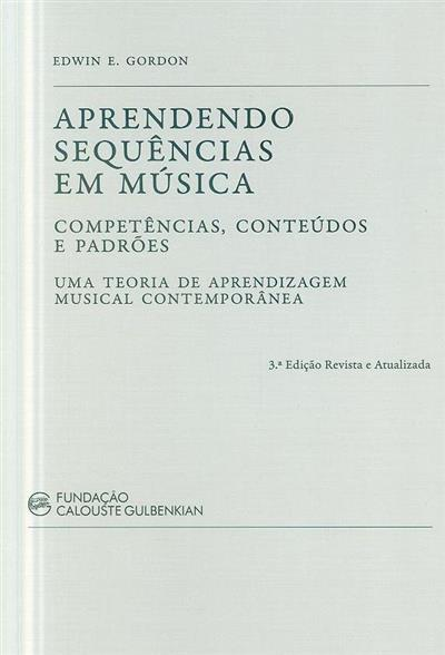 Aprendendo sequências em música (Edwin E. Gordon)