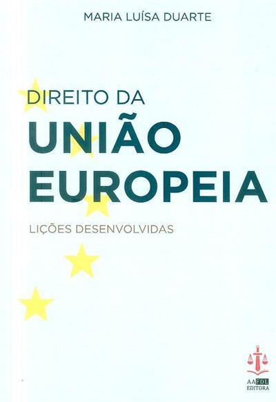Direito da união europeia (Maria Luísa Duarte)