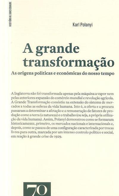 A grande transformação (Karl Polanyi)