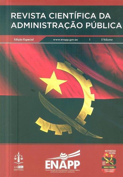 Revista científica da administração pública (Escola Nacional de Administração e Políticas Públicas)