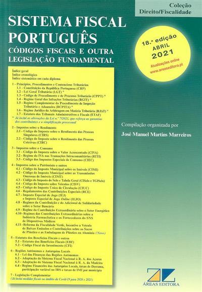 Sistema fiscal português (compil. e org. José Manuel Martins Marreiros)