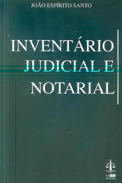 Inventário judicial e notarial (João Espírito Santo)