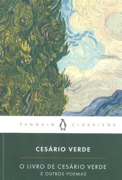 O livro de Cesário Verde e outros poemas (pref. Paula Morão)
