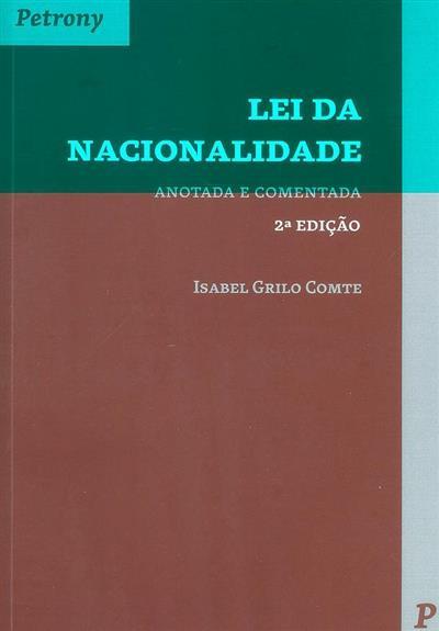 Lei da nacionalidade (Isabel Grilo Comte)